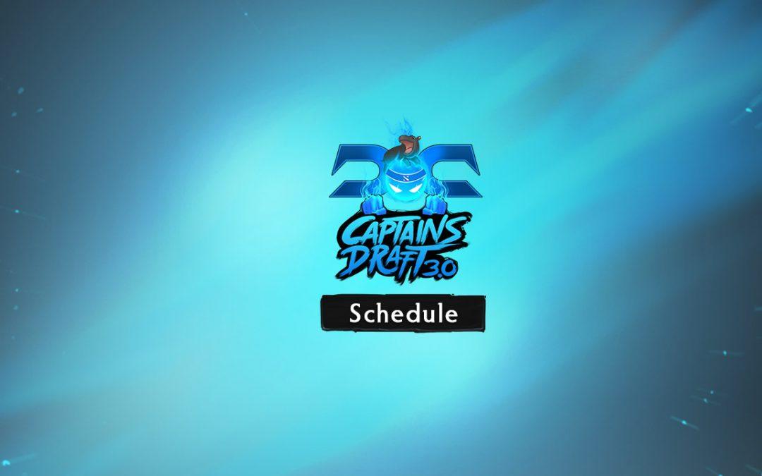 Captain's Draft 3.0 Schedule